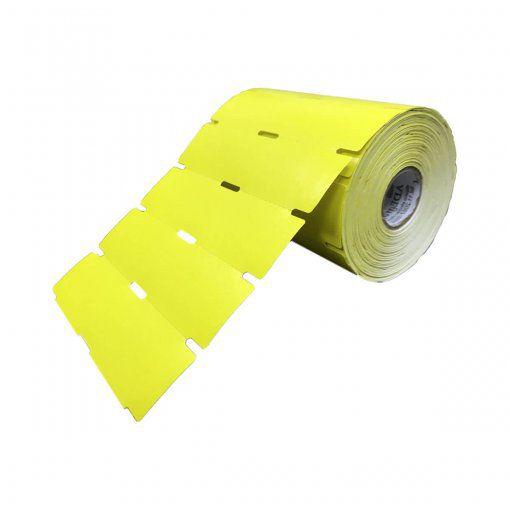 Etiquetas Universal para Gôndola na cor amarelo 105x30mm (12 rolos)