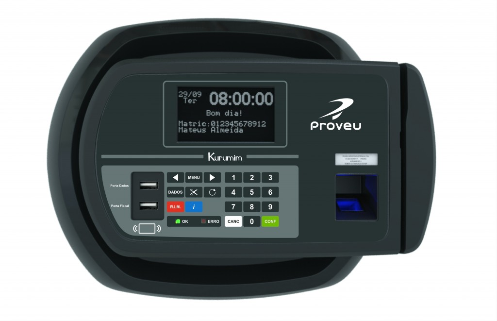 Relógio de Ponto Proveu Kurumim REP III Max BR PX NT