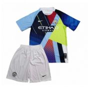 KIT INFANTIL MANCHESTER CITY MASHUP, UNIFORME COMPLETO