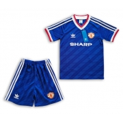 KIT INFANTIL MANCHESTER UNITED 1986 UNIFORME RESERVA RETRÔ