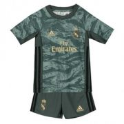 KIT INFANTIL REAL MADRID 2020 GOLEIRO, UNIFORME COMPLETO, CINZA