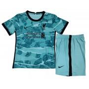 LIVERPOOL FC KIT INFANTIL 2021, UNIFORME RESERVA