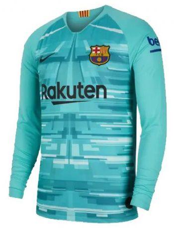 Barcelona Camisa Manga Longa 2020 Uniforme Goleiro