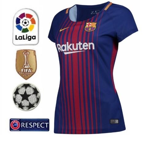BARCELONA FC NOVA CAMISA 1 FEMININA 2018 9f0cccac162bf