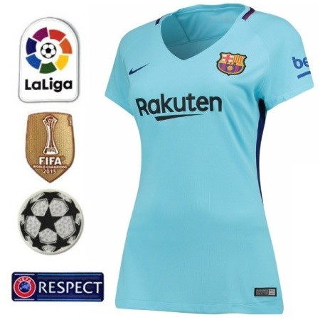 BARCELONA FC NOVA CAMISA 2 FEMININA 2018 AZUL b045243013774