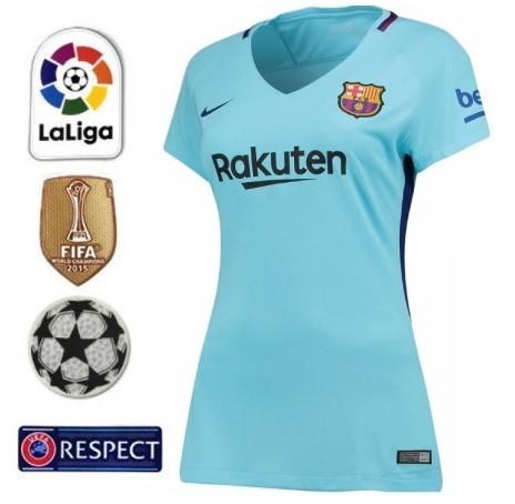 BARCELONA FC NOVA CAMISA 2 FEMININA 2018 AZUL 93c6298e8492e