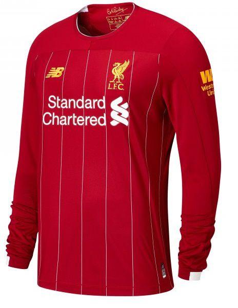Camisa Liverpool Fc 2020 Manga Longa Uniforme Titular