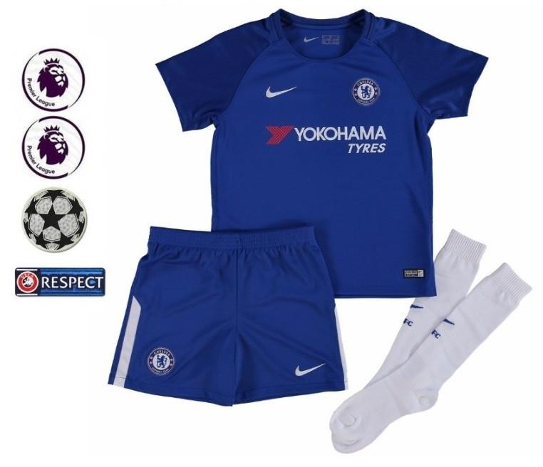 CHELSEA FC NOVO KIT INFANTIL 2018 8c035a42007b5