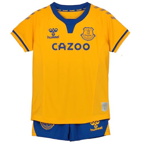EVERTON FC KIT INFANTIL 2021, UNIFORME RESERVA