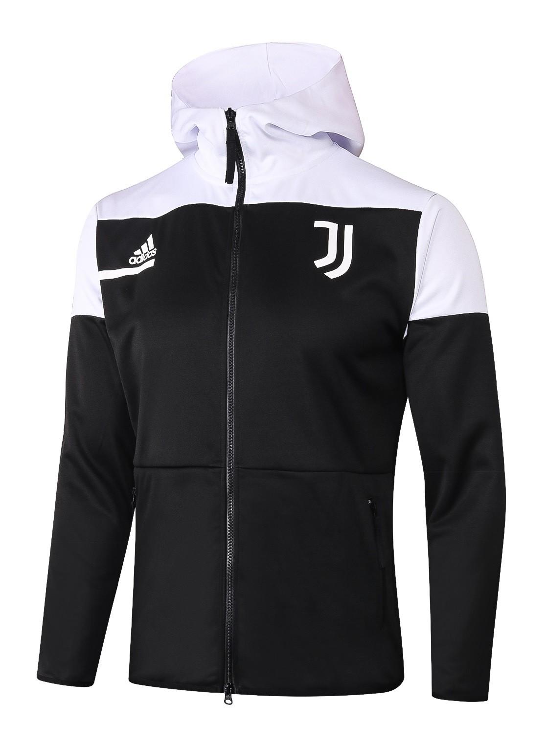 JUVENTUS FC JAQUETA CORTA VENTO COM CAPUZ 2021