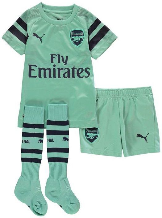 KIT INFANTIL ARSENAL 2019 RESERVA, UNIFORME 3, COMPLETO
