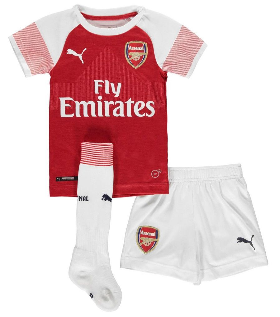 KIT INFANTIL ARSENAL 2019 TITULAR, UNIFORME COMPLETO