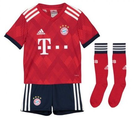 KIT INFANTIL BAYERN DE MUNIQUE 2019 TITULAR, UNIFORME COMPLETO