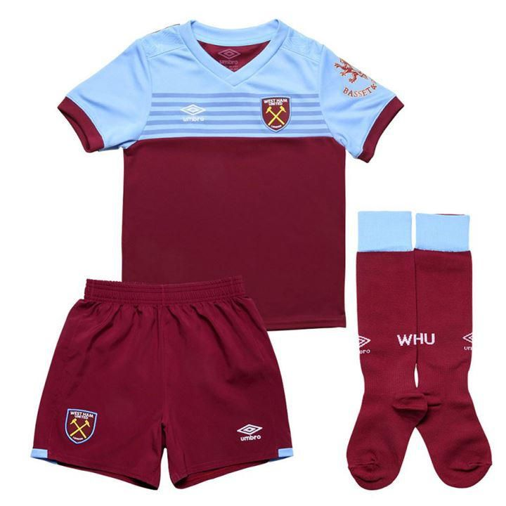 KIT INFANTIL WESTHAM UNITED 2020, UNIFORME TITULAR
