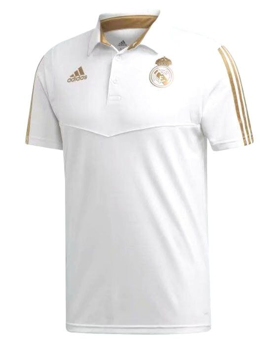 REAL MADRID CAMISA POLO BRANCA 2020