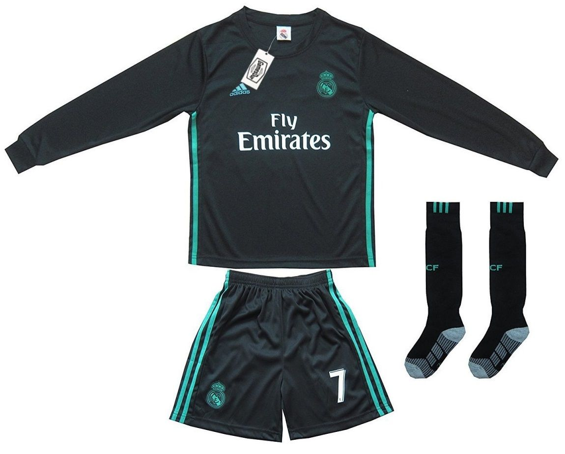 d9dd99176 REAL MADRID NOVO KIT INFANTIL MANGA LONGA 2018
