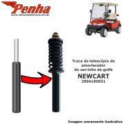Amortecedor dianteiro para carrinho de golfe Newcart (substítuição do telescópio)