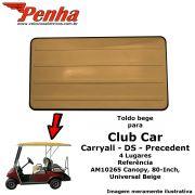 """Toldo Club Car Precedent ou Carryall 4 pessoas 80"""" Bege"""