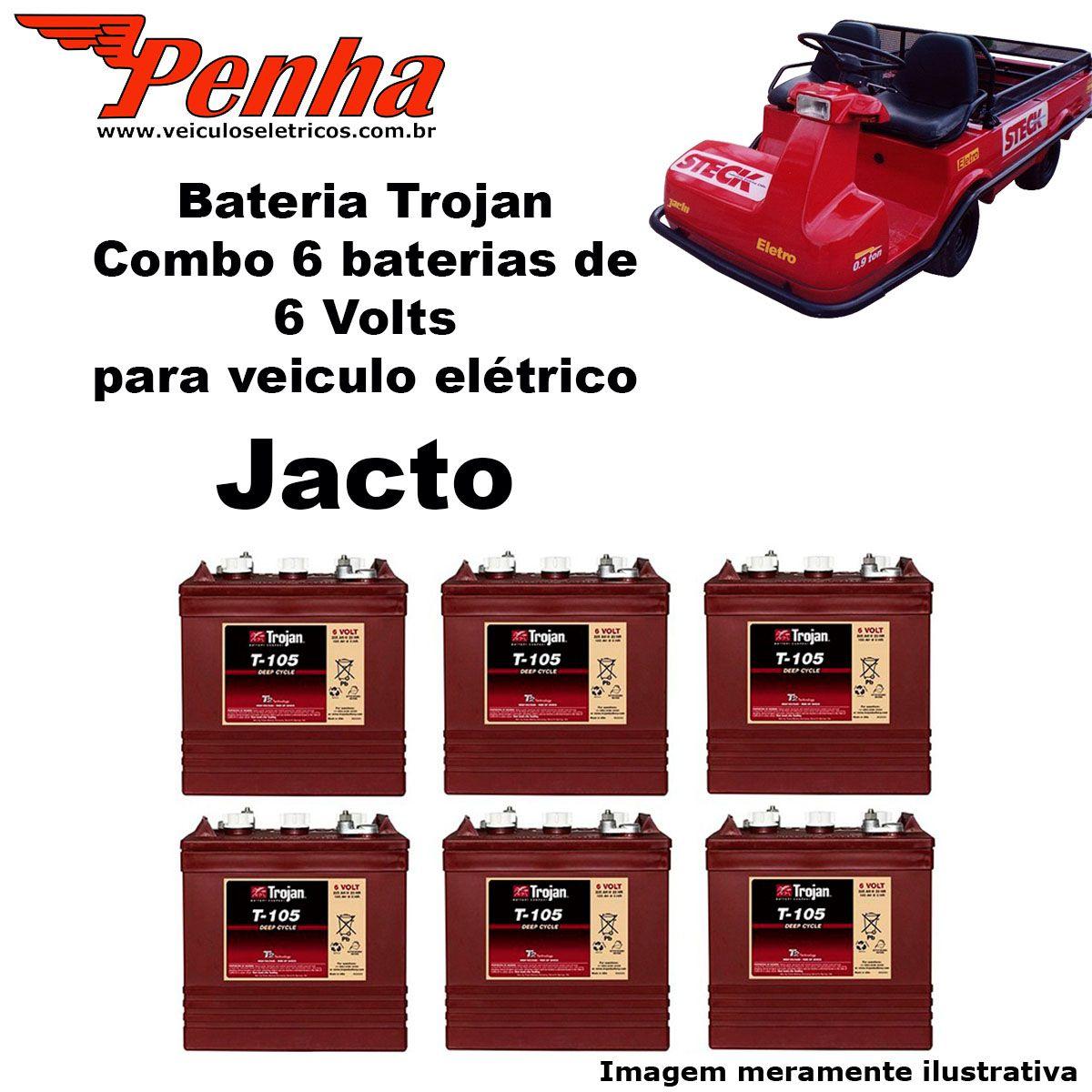 Bateria para carrinho de golfe EZGO 36 Volts (jogo)