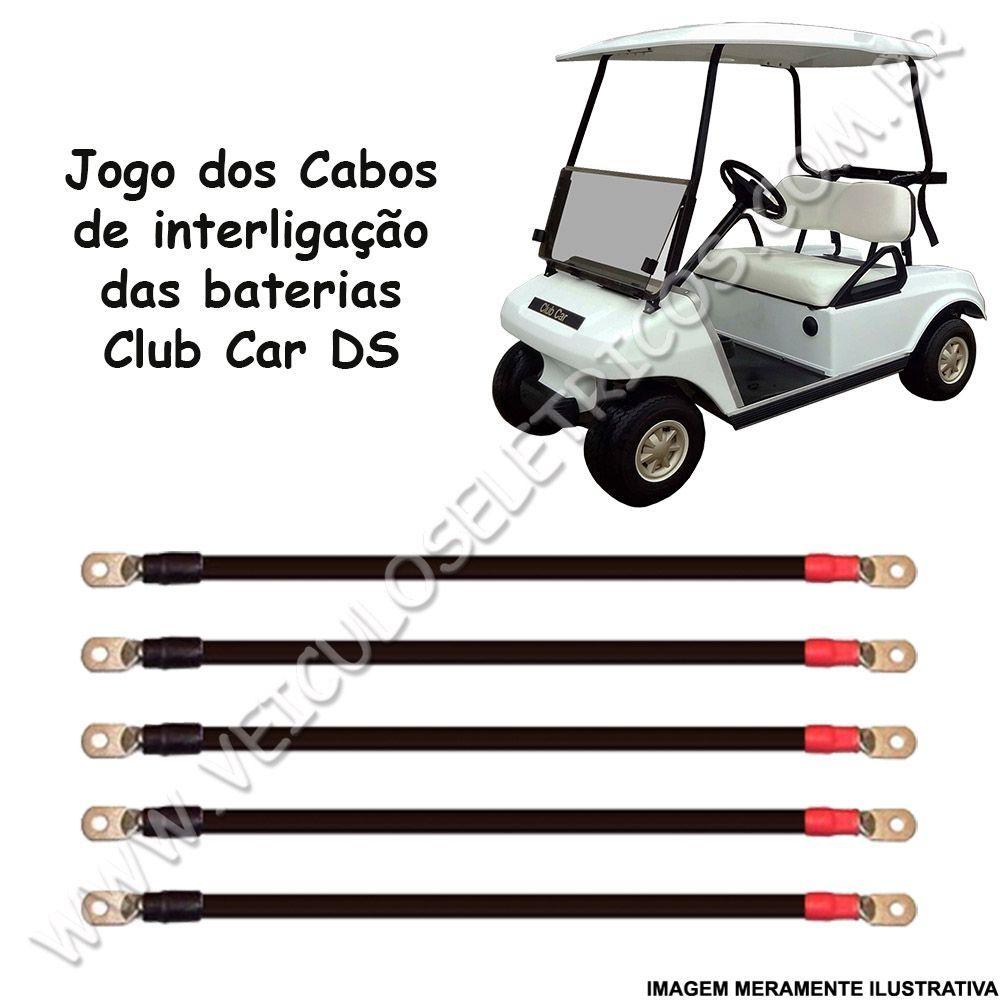Cabo de Baterias para carrinho de Golfe Club Car Carryall