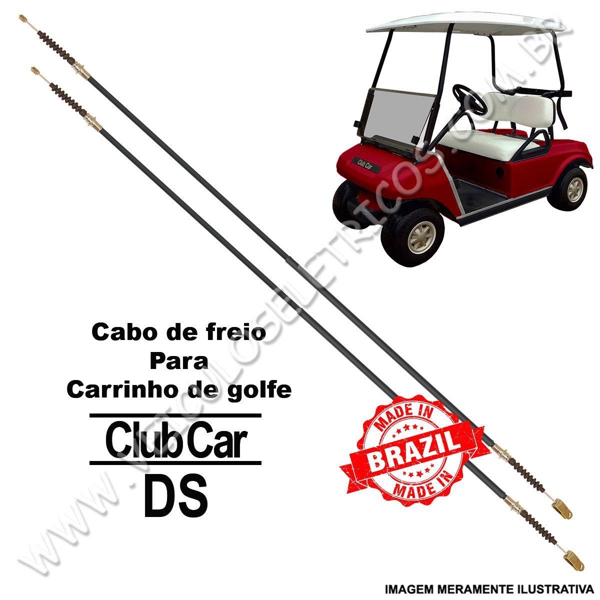 Cabo de Freio Para Carrinho de Golfe Club Car Carryall