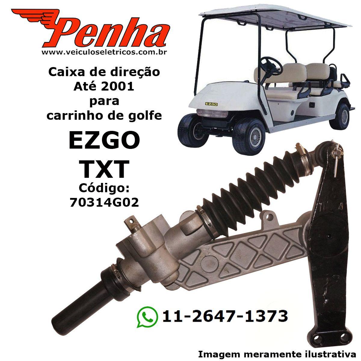 Caixa de Direção para Carrinho de Golfe EZ-GO TXT até 2000