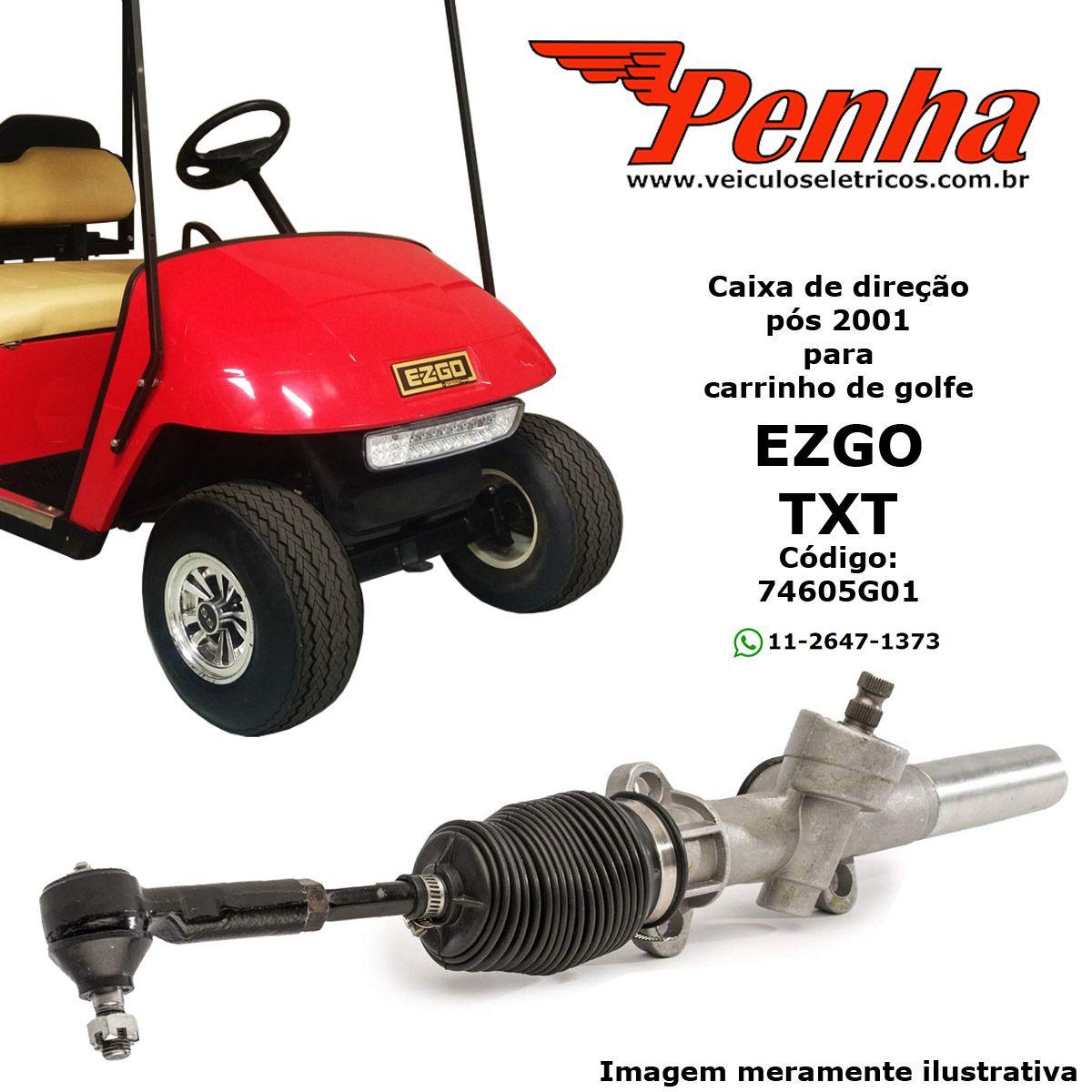 Caixa de direção para carrinho de golfe EZ-GO TXT pós 2001