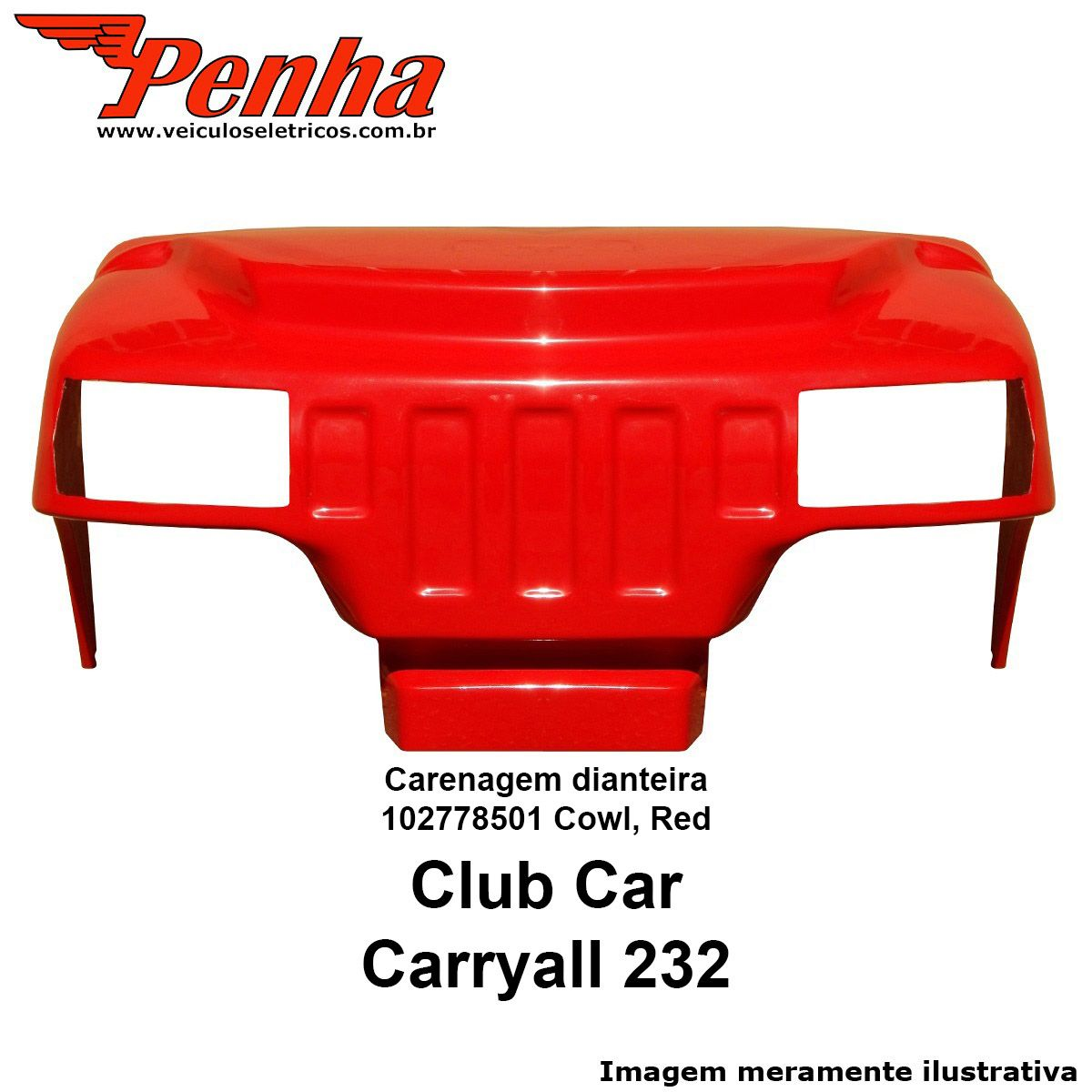 Carenagem dianteira Club Car Carryall  232