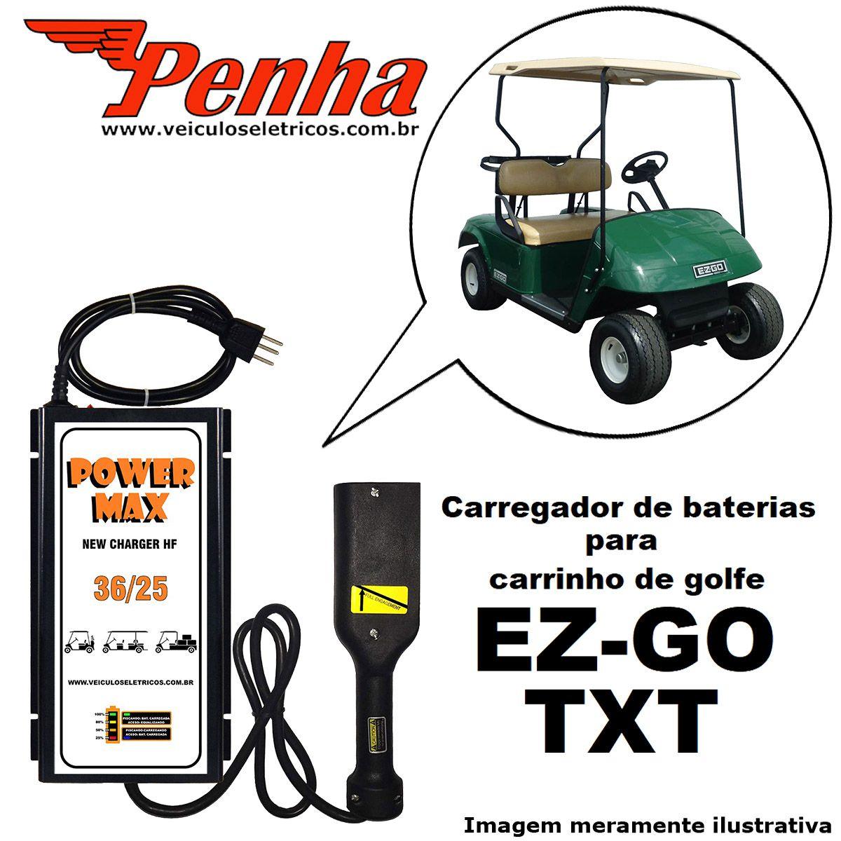 Carregador de baterias para carrinho de golfe