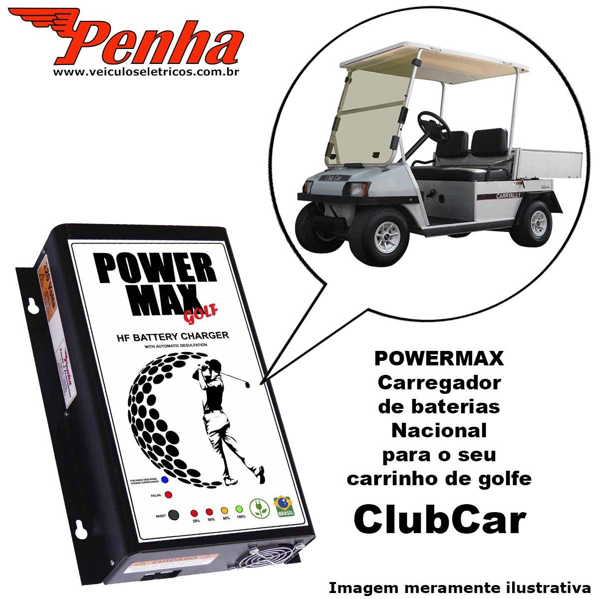 Carregador de Baterias para golf cart Club Car 36 Volts (Antigo)