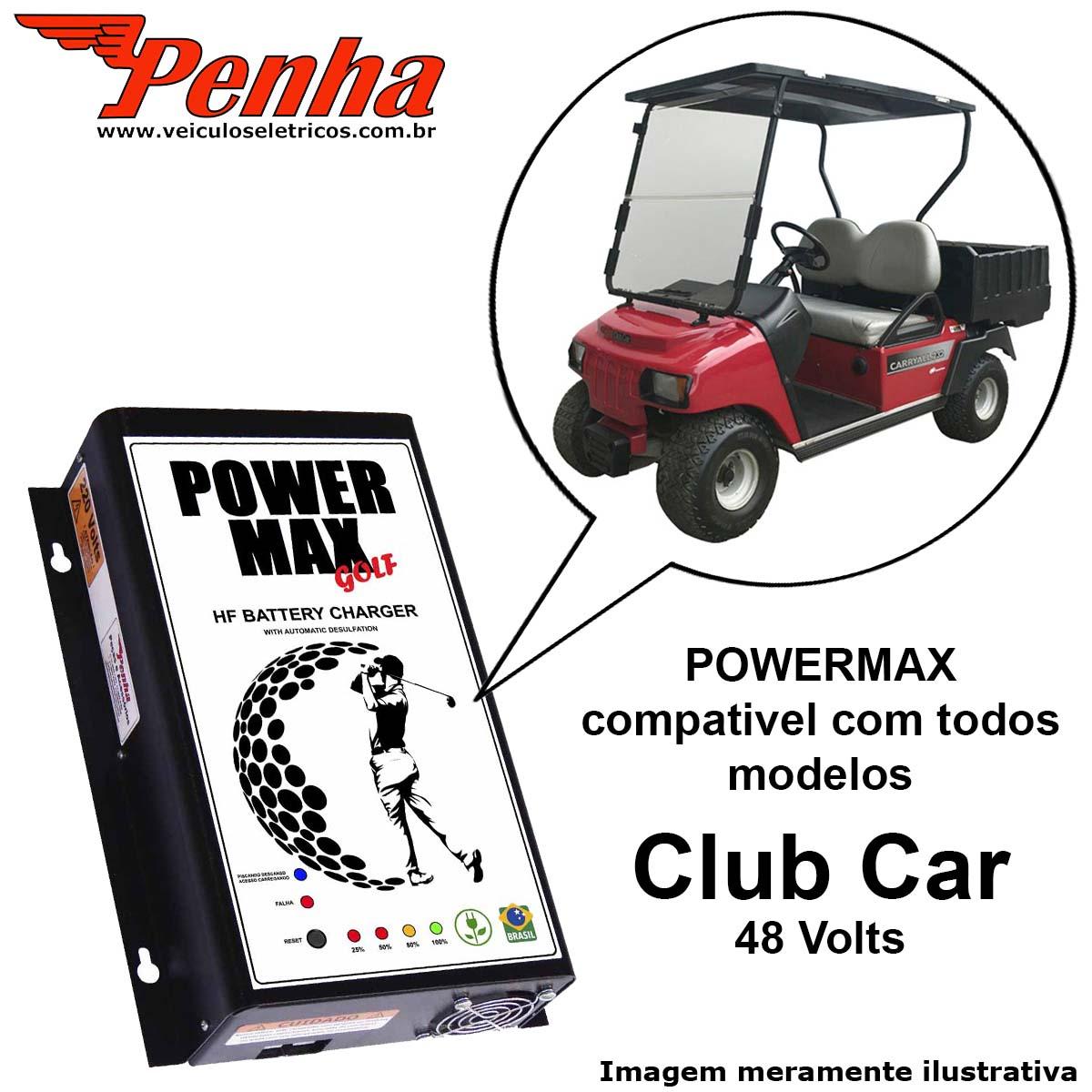 Carregador de Baterias para golf cart Club Car 48 Volts