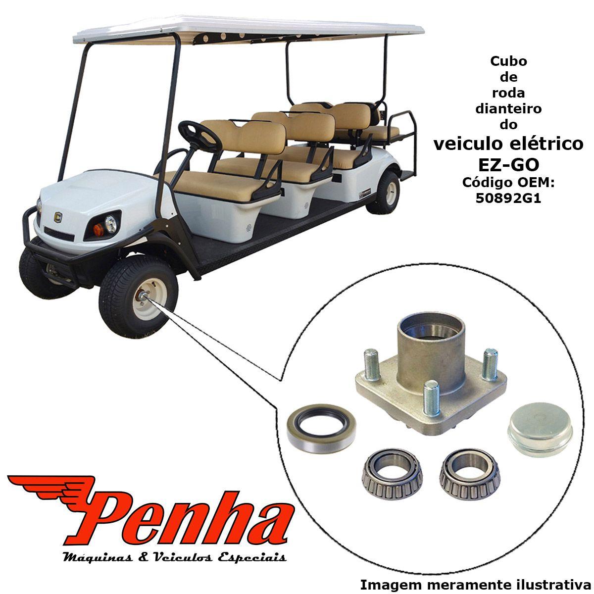 Cubo de roda completo para carrinho de golfe EZ-GO TXT