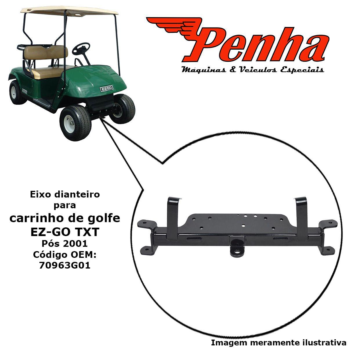 Eixo dianteiro para carrinho de golfe EZ-GO TXT após 2001.5