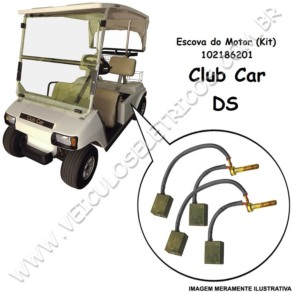 Escova do motor do carrinho de golfe Club Car