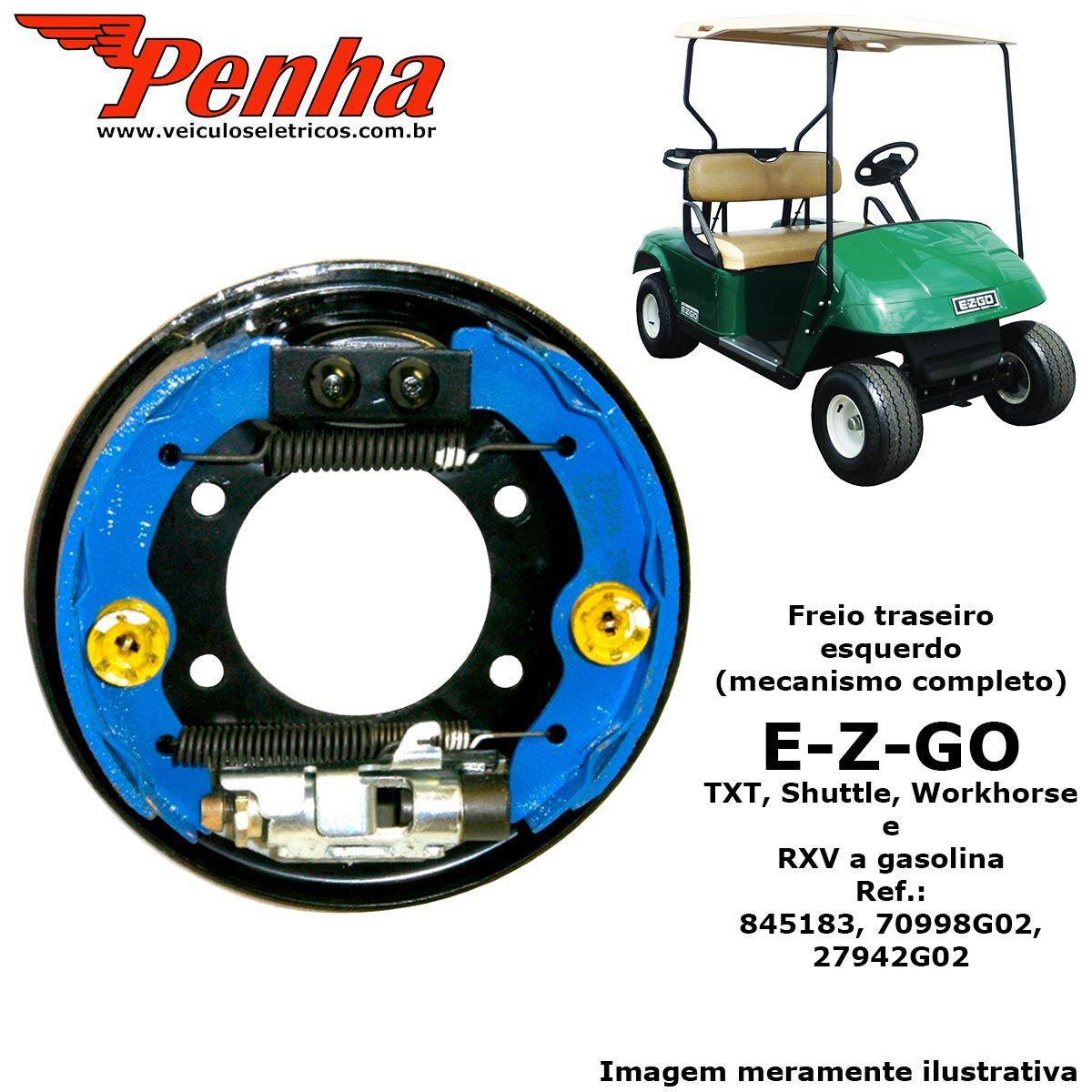 Freio traseiro Conjunto esquerdo para carrinho de golfe EZ-GO TXT