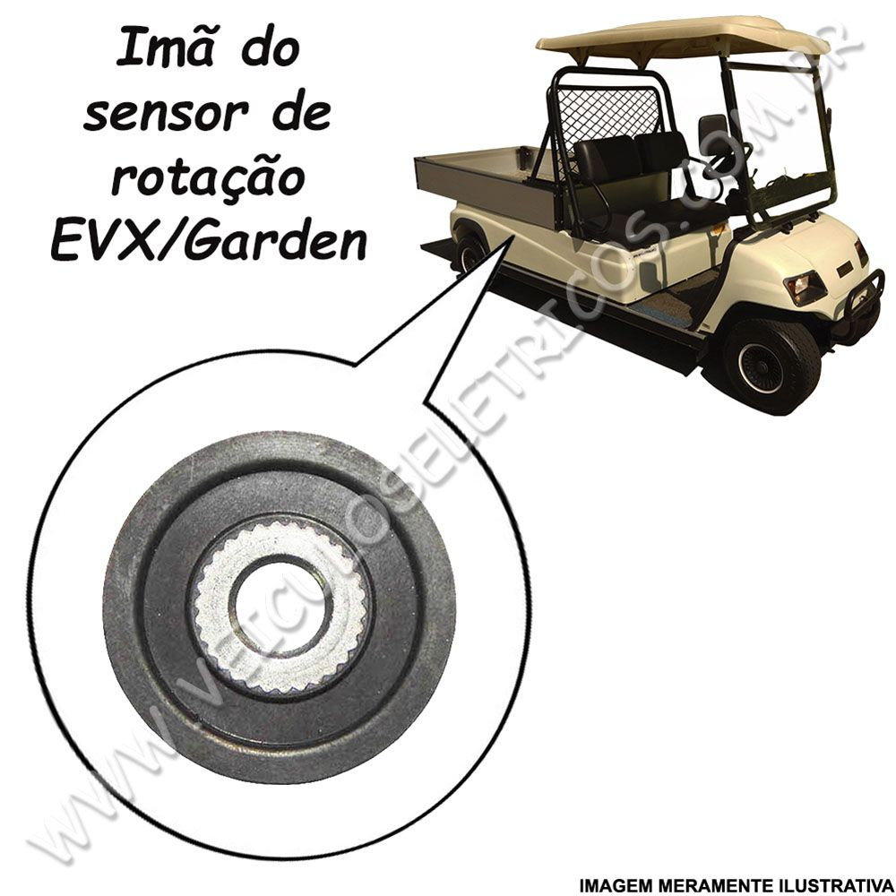 Imã do Sensor de Rotação do Motor  Club Car