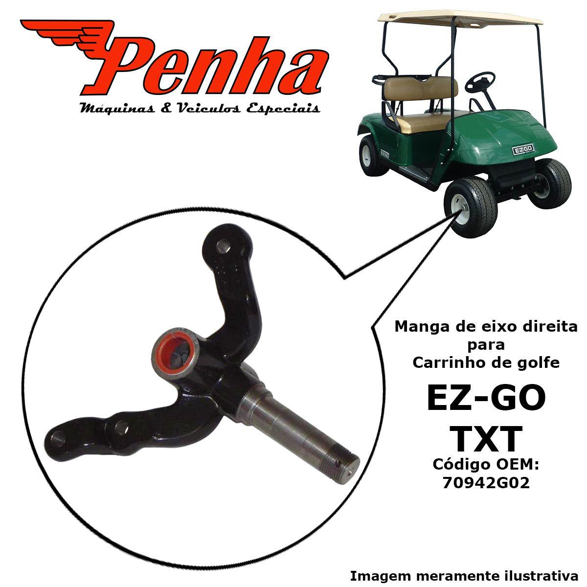 Manga de eixo direita para carrinho de golfe  EZ-GO TXT