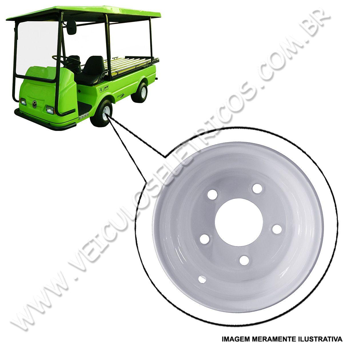 Roda Aro 8X7 Para carrinho elétrico Jacto