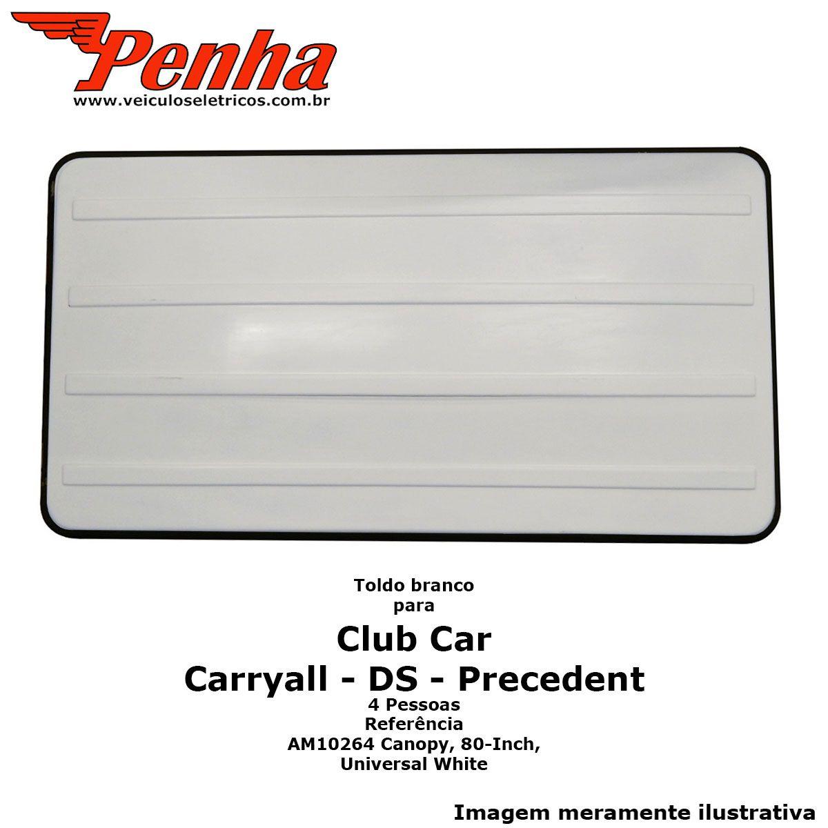 """Toldo Club Car Precedent ou Carryall 4 pessoas 80"""" Branco"""