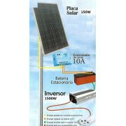 Kit Gerador Solar Painel de 150w - Inversor 12V/220V e cabos