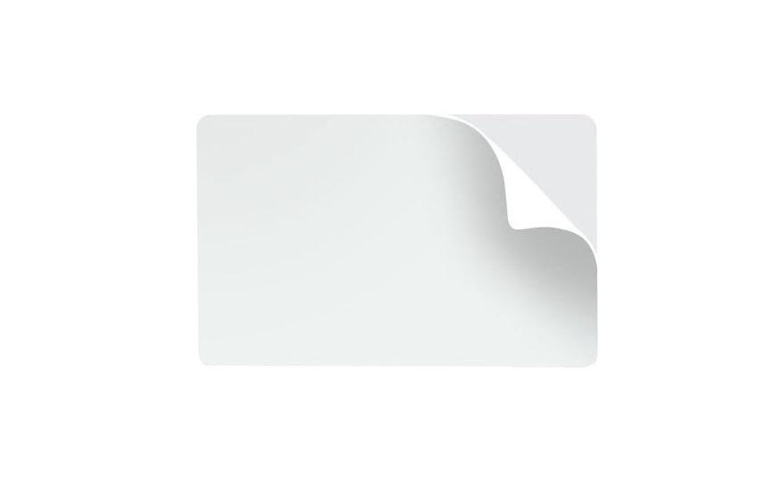 Cartão de PVC Branco Adesivado 100 unidades