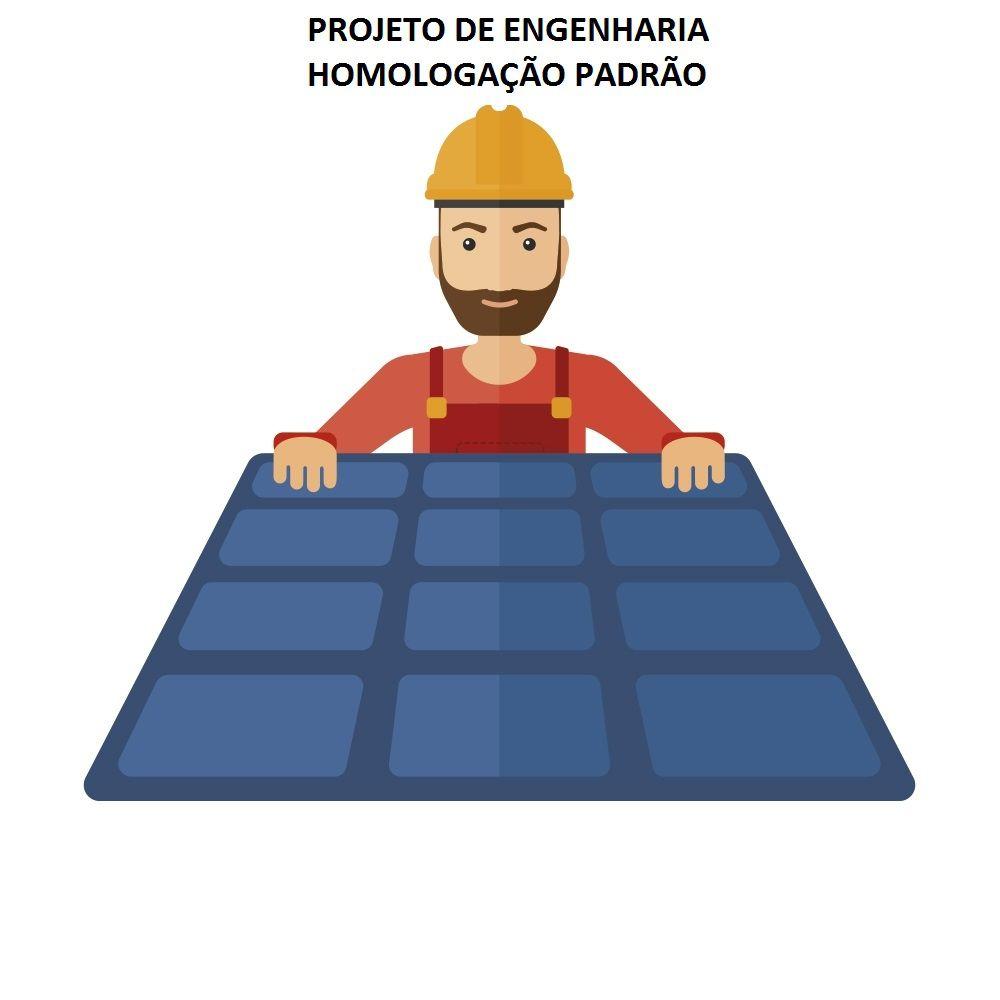 Kit Gerador Solar Fotovoltaico Inversor 3kW com  Projeto Incluso