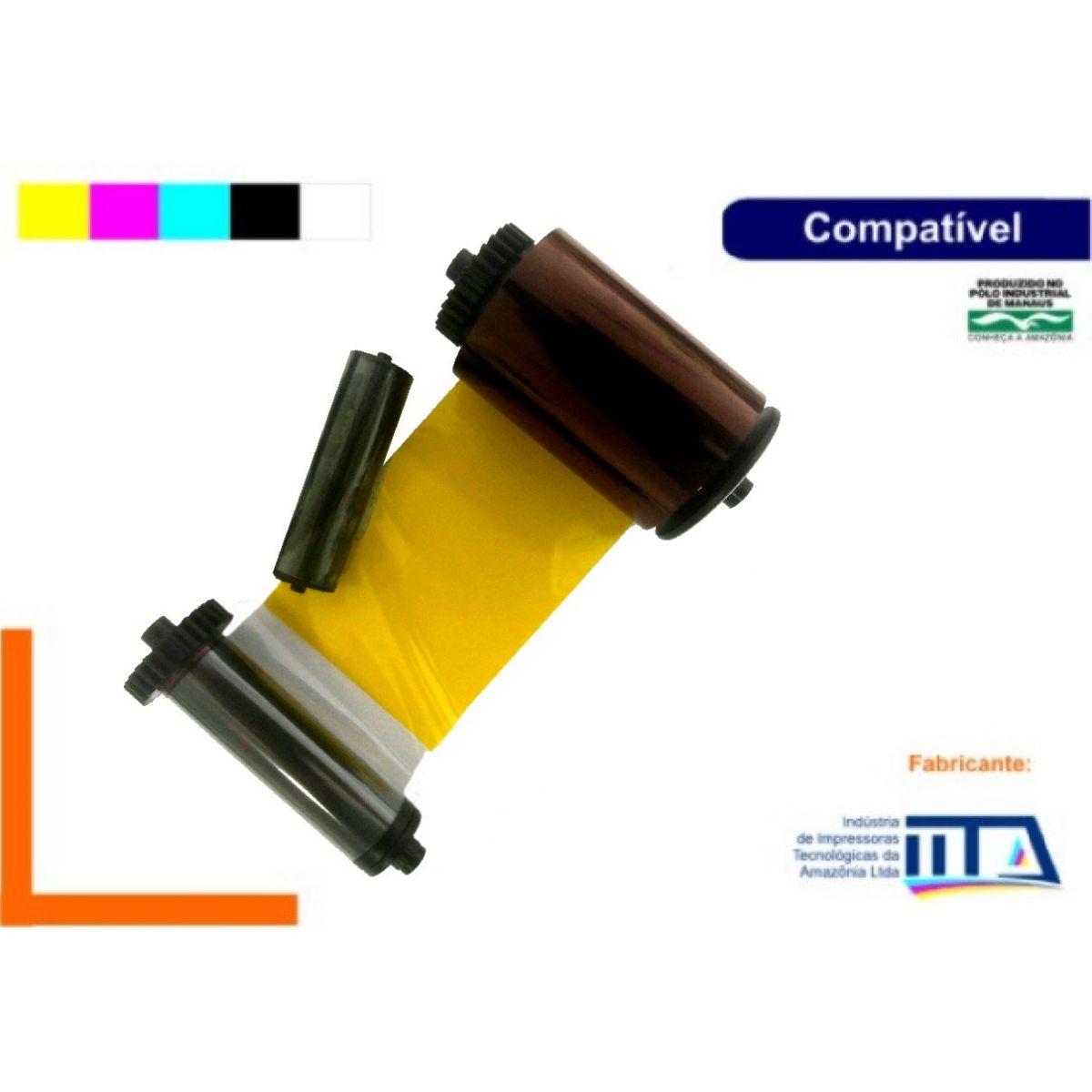 Ribbon Colorido (YMCKO) - NACIONAL - COMPATÍVEL SMART CH