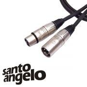 Cabo de Microfone Santo Angelo Canon Balanceado Xlr + Xlr 10 Metros (Montado)