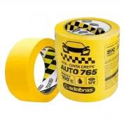 Fita Crepe Automotiva Anti UV Amarela 48mm x 40mt - Adelbras