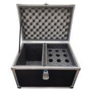 Hard Case Maleta para 12 Microfones com Vão para Acessórios - RS