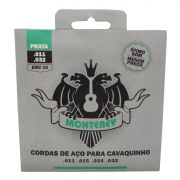 Jogo de Cordas p/ Cavaquinho Aço Prata 011 - Monterey