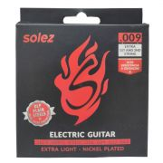 Jogo de Cordas p/ Guitarra 009 Extra Leve - Solez (2 Cordas Extras)