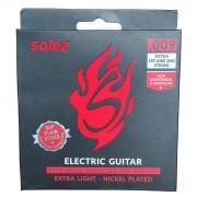 Jogo de Cordas p/ Guitarra 009 Extra Leve - Solez