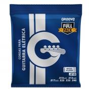 Jogo de Cordas p/ Guitarra 010 Fullpack - Groove